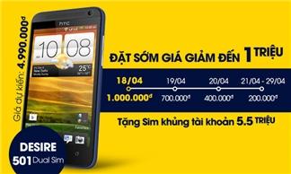 HTC Desire 501 giá rẻ nhất thị trường - Giảm ngay đến 1 triệu - Đặt ngay hôm nay để có giá tốt nhất!!!