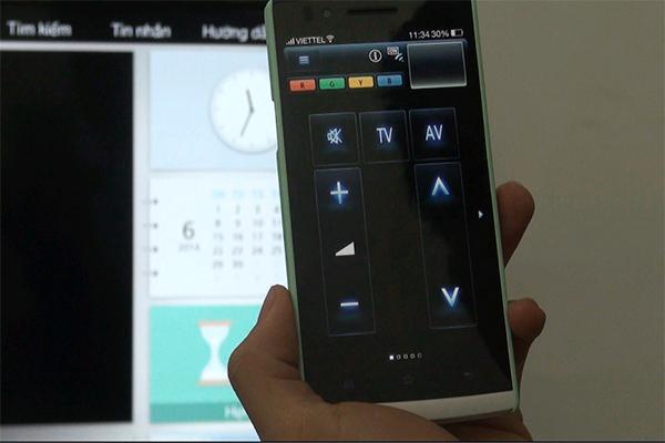 Giao diện chính của từ x điều khiển cho phép người dùng sử dụng nó như một remote thông thường