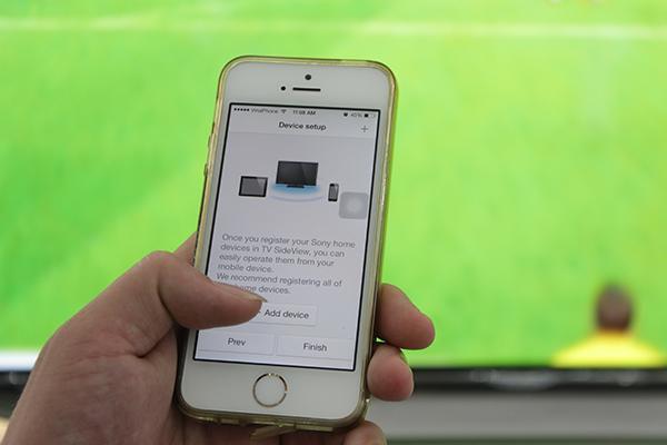 Chọn +Add device để lấy thông tin tivi