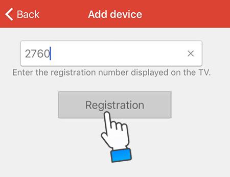 Nhập mật khẩu và nhấn Rigistration
