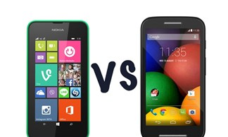 So sánh chi tiết bộ đôi smartphone giá rẻ Lumia 530 và Moto E