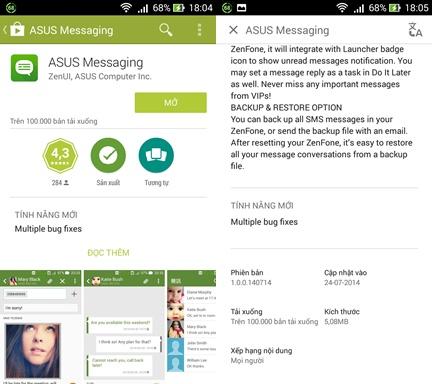Truy cập Google Play Store và kiểm tra xem ứng dụng tin nhắn mặc định đang ở phiên bản nào, rồi tải về nếu có phiên bản mới
