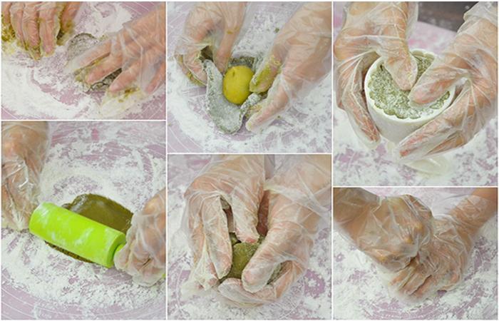 Các bước làm bánh trung thu loại dẻo
