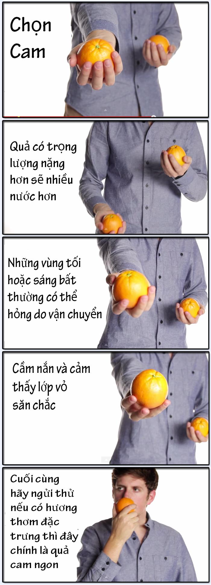 Cách chọn Cam ngon