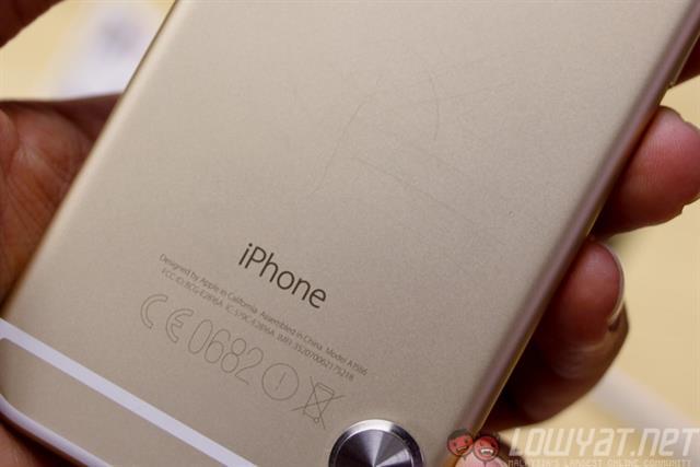 iPhone 6 màu vàng cũng rất khó thấy các vết trầy