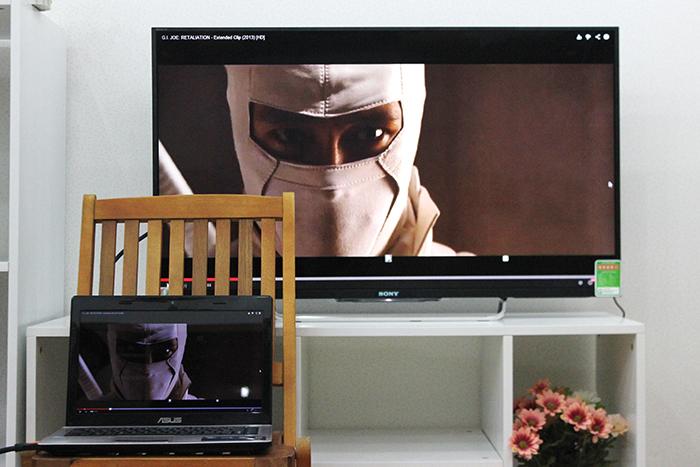HDMI cho phép truyền tải hình ảnh và cả âm thanh với chất lượng cao