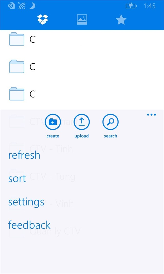 Dropbox for Windows Phone