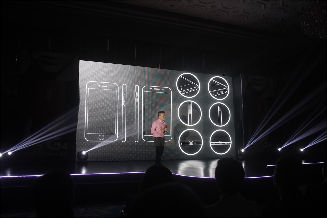 Ông Trần Mạnh Cường giới thiệu về thiết kế của LG G4