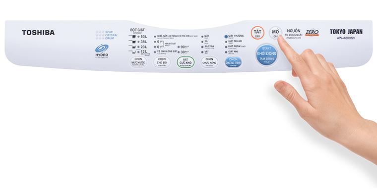 Cách sử dụng bảng điều khiển máy giặt Toshiba AW-A800SV