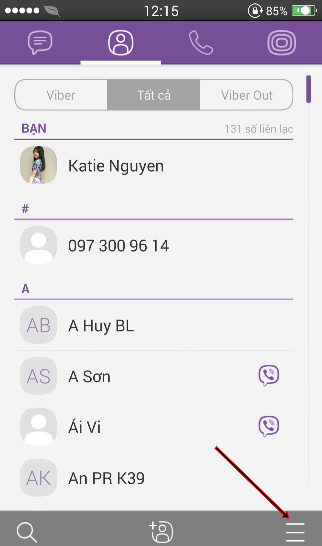 Chặn tin nhắn rác trên Viber