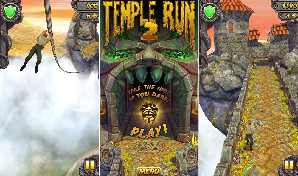 Tựa game Endless Runner đình đám Temple Run 2 mặc dù là một game mobile miễn phí nhưng lại rất mau hết pin