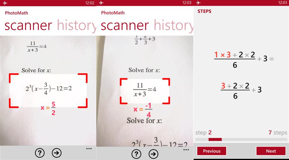 Một tính năng rất hay trong ứng dụng này chính là 'step-by-step'
