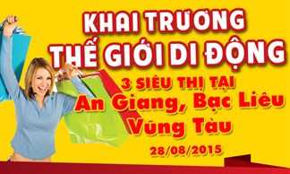 Đồng loạt khai trương 3 siêu thị Thegioididong tại An Giang, Bạc Liêu và Bà Rịa Vũng Tàu