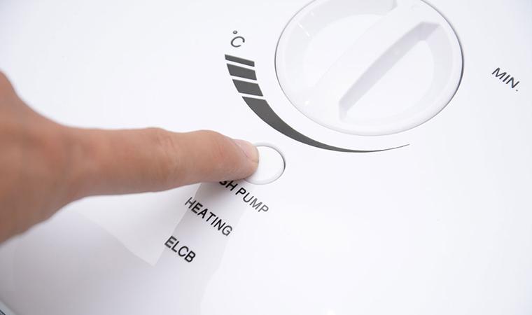 Nút Push Pump hỗ trợ bơm tăng áp khi áp suất nước quá nhỏ