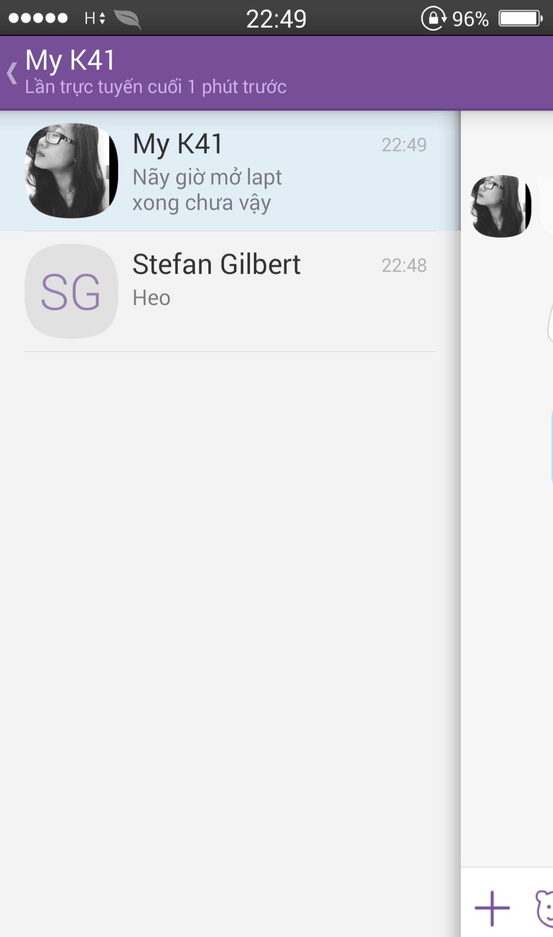 Chuyển nhanh các cuộc hội thoại trên Viber