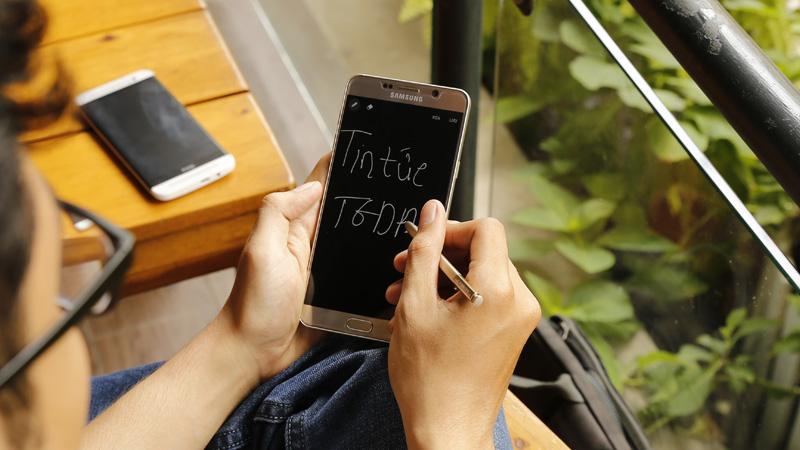 Ghi chú nhanh trên Note 5