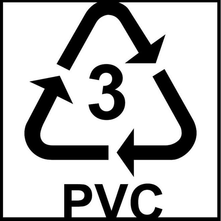 """Không dùng sản phẩm có ký hiệu số """"3"""" và """"PVC"""" vì dễ bị nóng chảy"""
