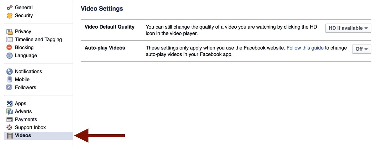 Tắt auto-play video trên Facebook