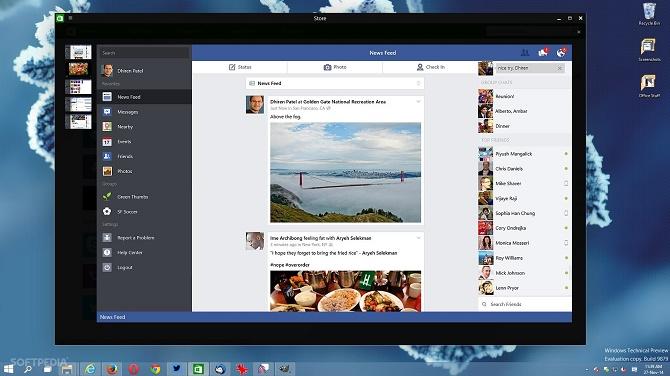 Facebook là một trong những ứng dụng Universal hoàn chỉnh trên Windows 10