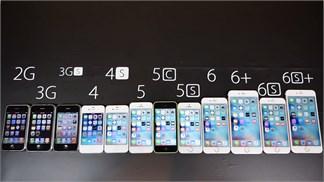 Đọ tốc độ 10 đời iPhone, bất ngờ với 'lão tổ thần thánh' iPhone 2G!