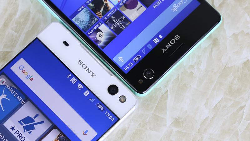 So sánh mặt trước Sony Xperia C4 và Sony Xperia C5