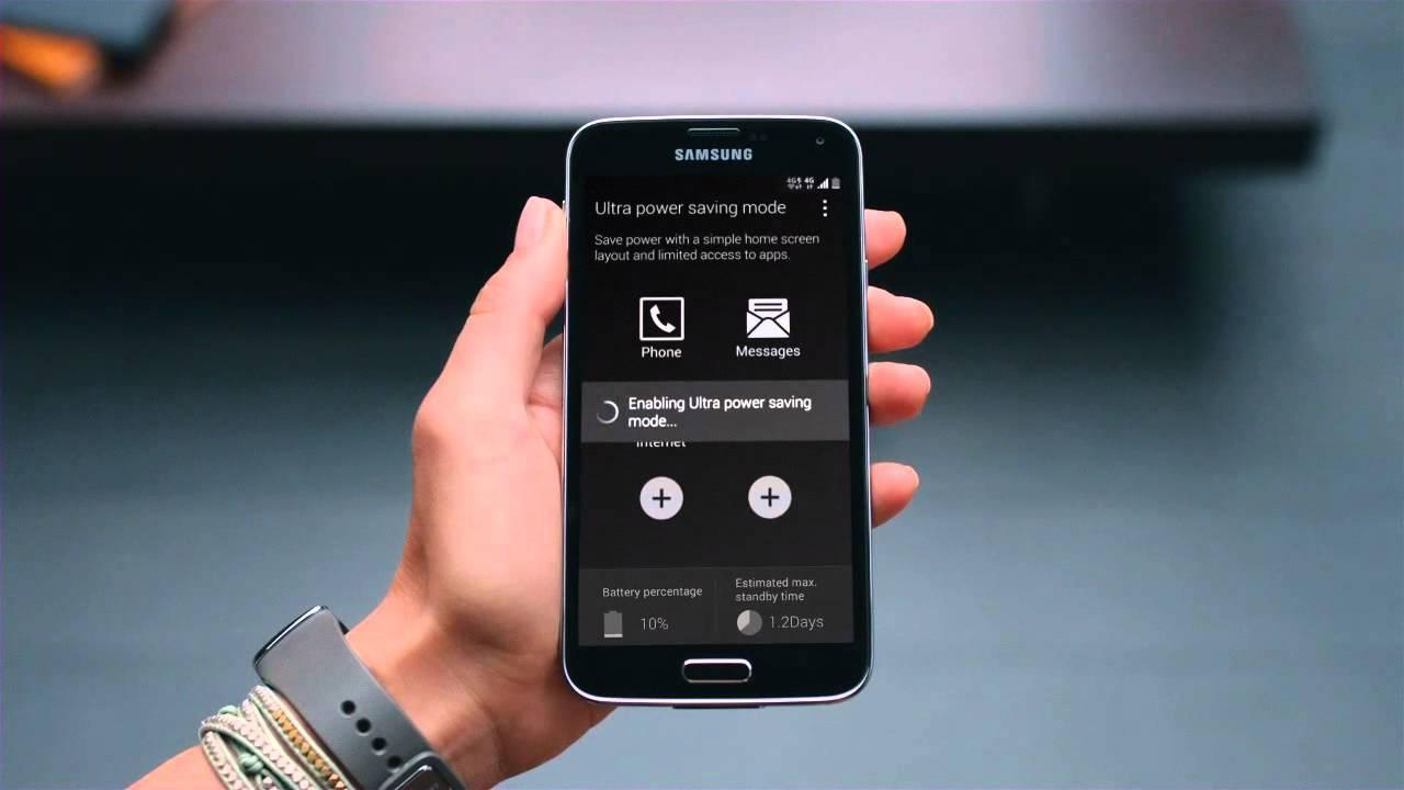 Siêu tiết kiện pin trên smartphone Samsung
