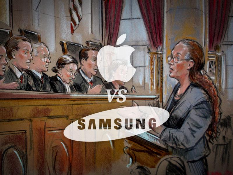 Apple vs Samsung tại tòa
