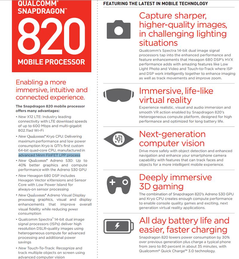 Snapdragon 820 được xây dựng trên quy trình 14nm LPP