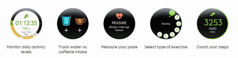 Hỗ trợ nhiều tiện ích như đo nhịp tim, đếm bước chân, ...