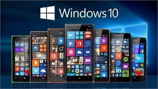 Microsoft đưa ra danh sách smartphone đầu tiên được lên đời Windows 10