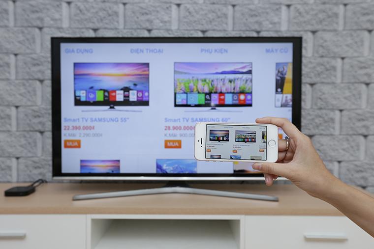 Tivi sẽ phản chiếu lại tất cả những gì có trên điện thoại của bạn