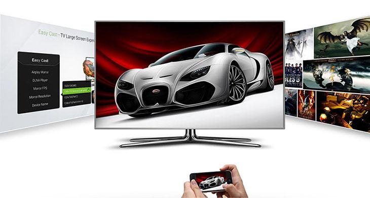 Android tivi box còn có thể hỗ trợ chiếu màn hình điện thoại lên tivi
