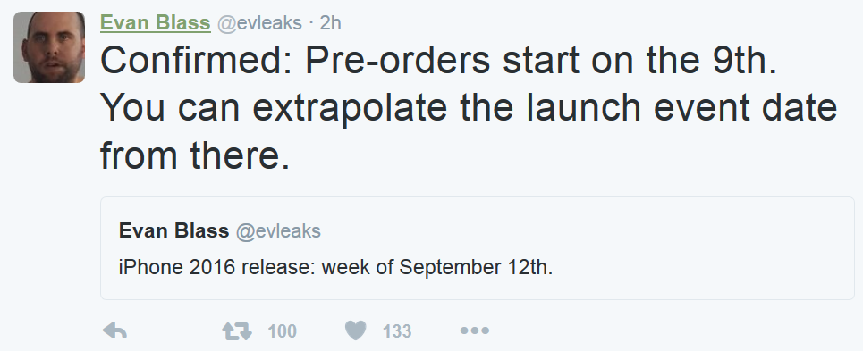 Hé lộ thời điểm iPhone 7 bắt đầu cho phép đặt hàng