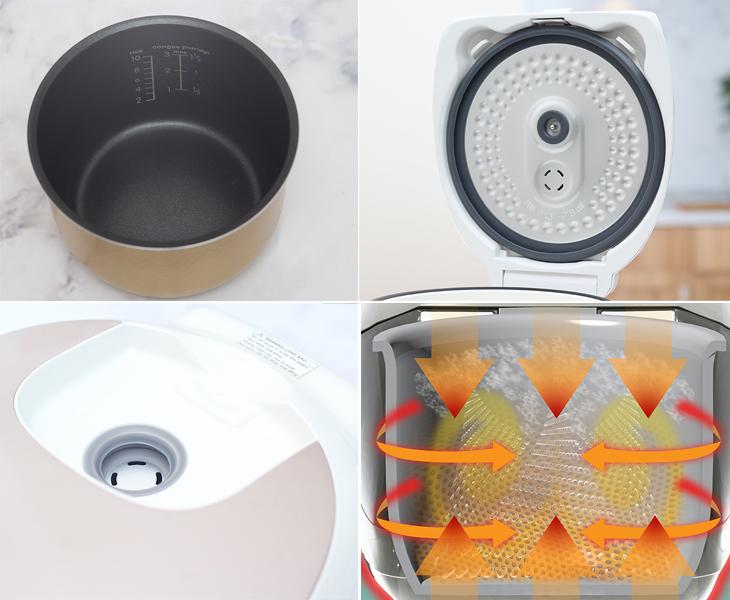 Nồi cơm điện tử được nghiên cứu thiết kế và ứng dụng công nghệ hiện đại nấu cơm ngon