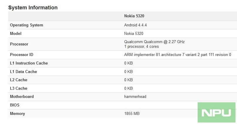 Smartphone Nokia chạy Android lộ cấu hình khủng với chip Snapdragon 821