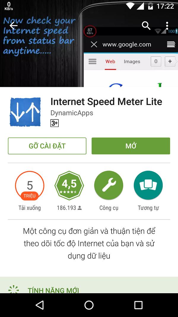 Kết quả hình ảnh cho Internet Speed Meter Lite