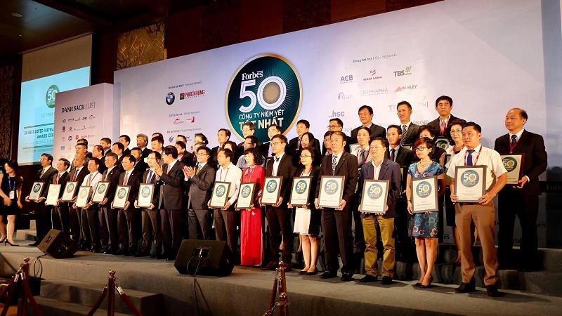 TGDĐ được Forbes Vietnam vinh danh Top 50 Công ty niêm yết tốt nhất VN