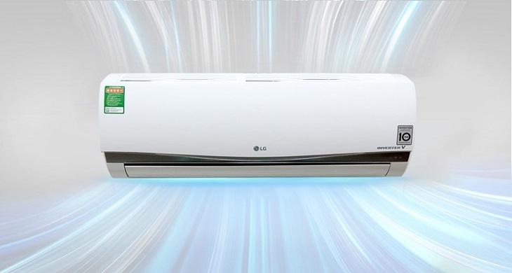 Công nghệ Inverter của điều hòa 1 chiều LG làm lạnh mạnh mẽ