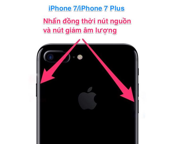 Làm gì khi iPhone bị treo - Đối với iPhone 7/iPhone 7 Plus