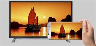 Cách chiếu màn hình điện thoại lên Smart tivi Toshiba 2016