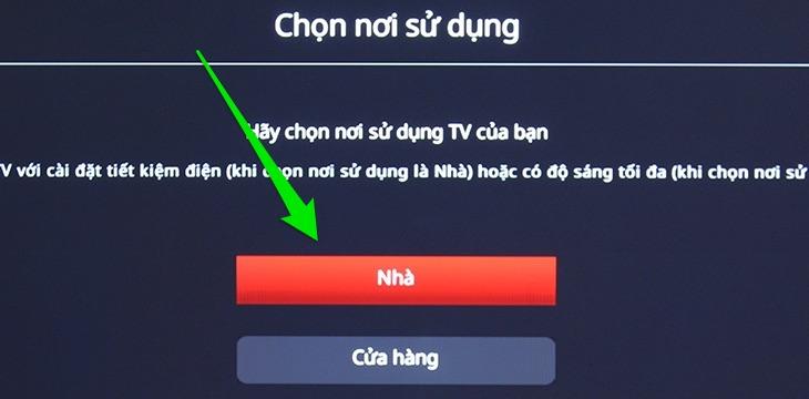 Chọn nơi sử dụng tivi là tại nhà