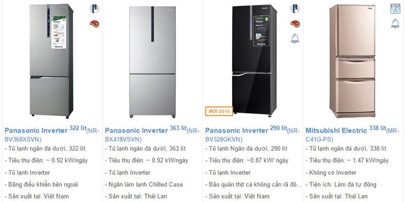 tủ lạnh ngăn đá dưới có thiết kế đẹp