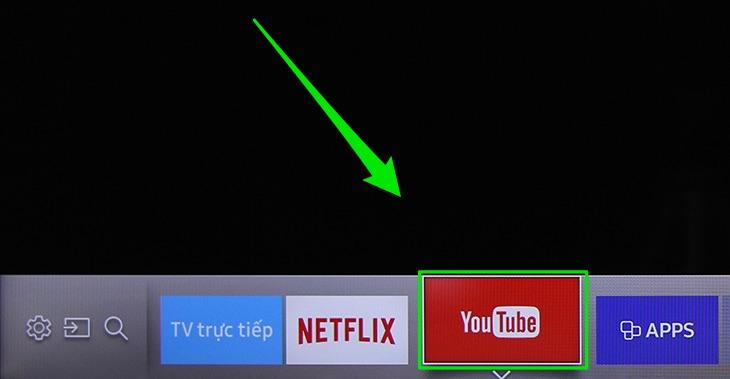Mở YouTube trên tivi