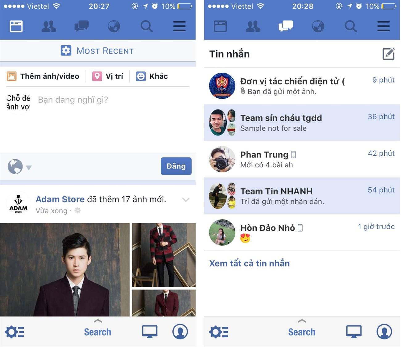 Thủ thuật nhỏ giúp bạn gôm Facebook và Messenger lại với nhau trên iPhone