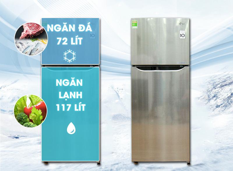 Description: Tủ lạnh LG 189 lít GN-L205PS