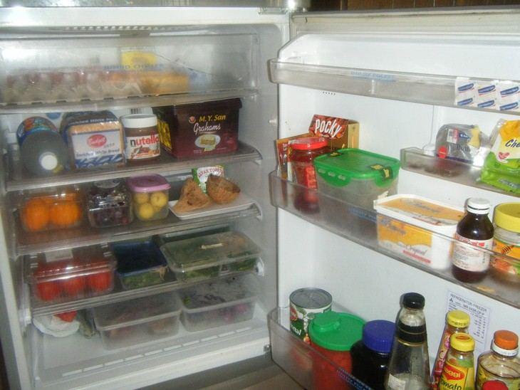 Nên sắp xếp thực phẩm hợp lý