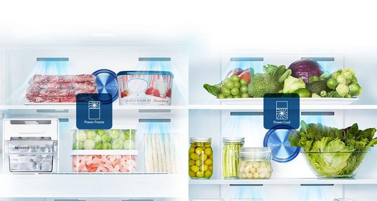 khí lạnh lan tỏa đồng đều đến mọi ngóc ngách của tủ lạnh