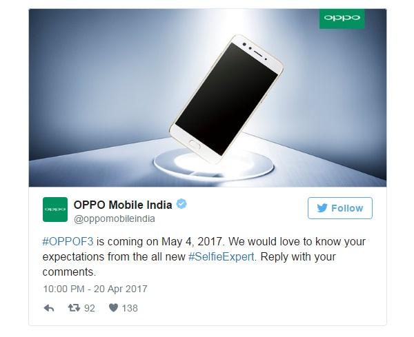 OPPO F3 sắp ra mắt: Camera selfie kép, RAM 4 GB, màn hình nhỏ hơn F3 Plus - ảnh 2