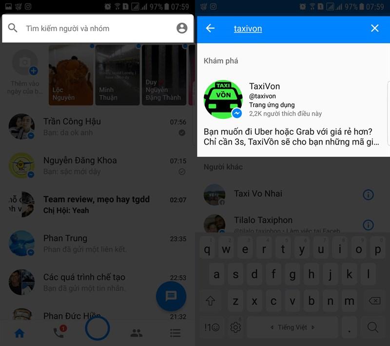 Cách lấy mã giảm giá Grab và Uber ngay trong Messenger