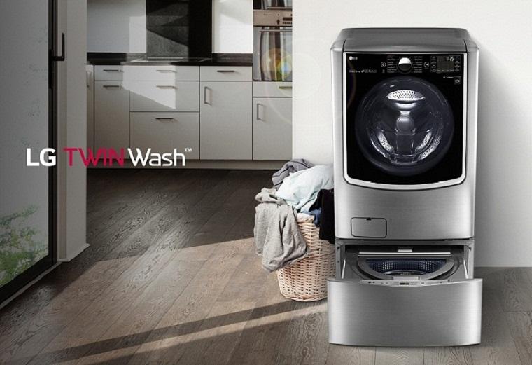 Máy giặt lồng đôi-Giặt cùng lúc hai mẻ đồ khác nhau theo nhu cầu